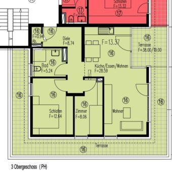 3,5 – Zimmer Penthousewohnung